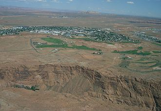 Page, Arizona - Aerial view of Page from a plane
