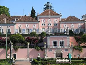 Belém Palace - The main façade of the Palace of Belém, official residence of the Portuguese President