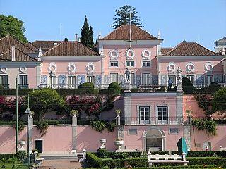 Belém Palace building in Santa Maria de Belém, Lisbon District, Portugal