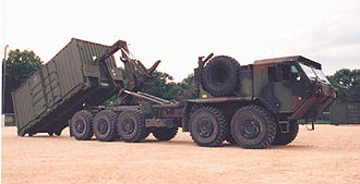 Palletized load system - An early Oshkosh M1075A0 PLS truck