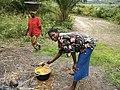 Palm oil manufacture (2) Lac Mukamba, Deretoire de Dimbelenge, Kasai occ. RD Congo.JPG