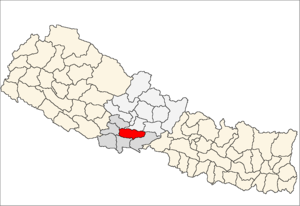 Location map of Palpa District (wp-EN), in Nep...