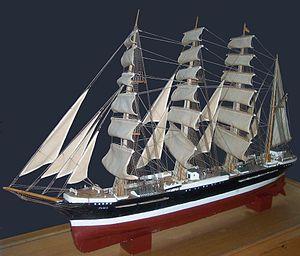 Pamir (ship) - Image: Pamir Modell