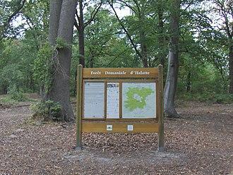 Forest of Halatte - Tourist information sign at Aumont-en-Halatte