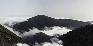 Vourinos mountain in Greece