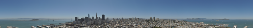 A panoramic view of San Francisco from Coit Tower