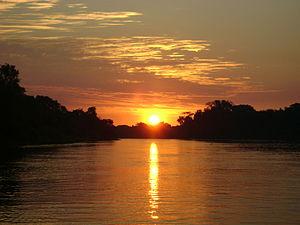 Pantanal - Pantanal sunset, mid-year (July/August)