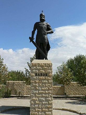 Babak Khorramdin - Statue of Babak Khorramdin in Babek city, Nakhchivan Autonomous Republic of Azerbaijan
