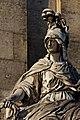 Paris - Les Invalides - Façade nord - Statue de Minerve - PA00088714 - 007.jpg