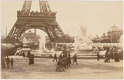 Paris Exposition 1889 Champ-de-Mars towards Trocadero