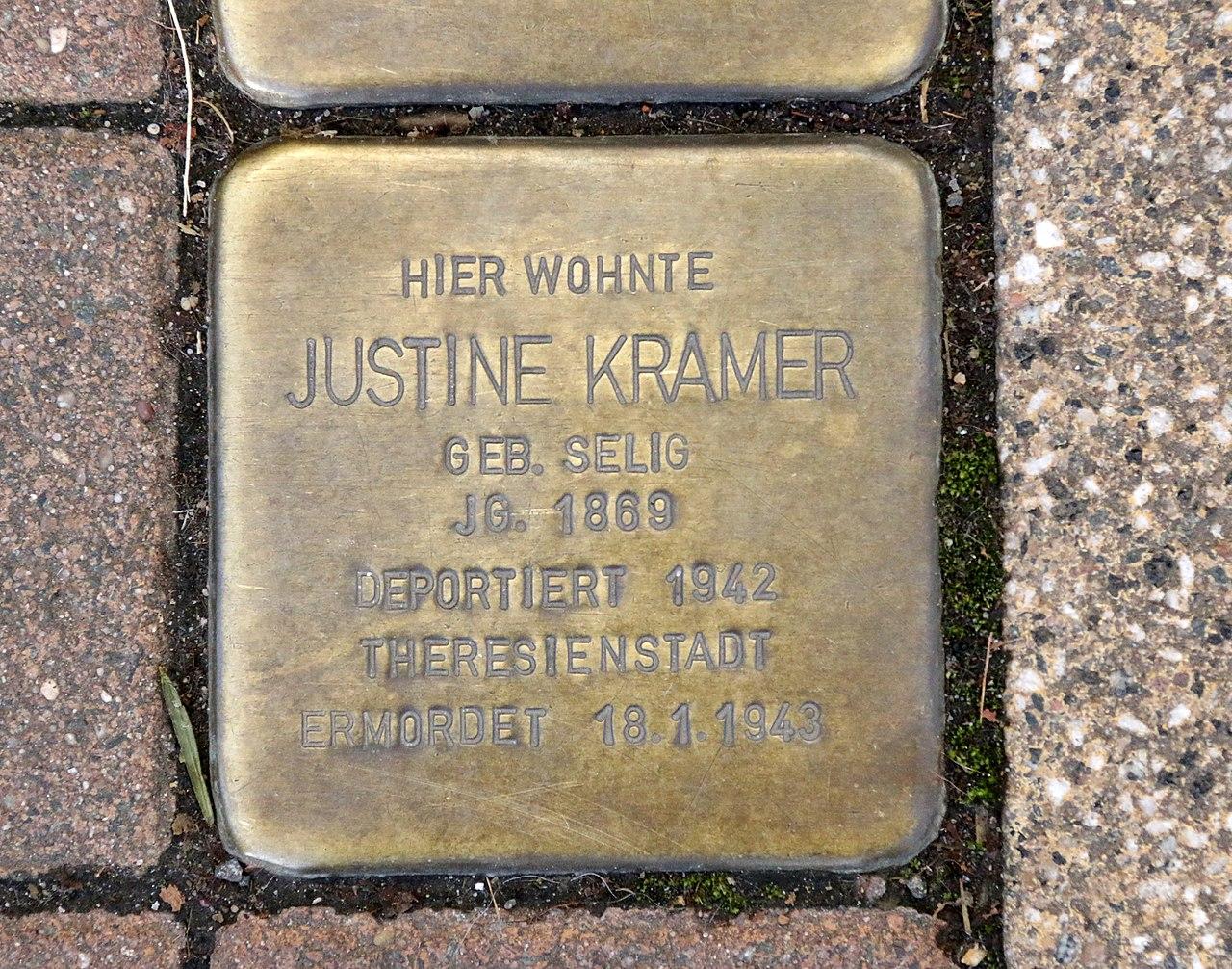 Pariser Strasse 105 - Justine Kramer - Stolperstein Nieder-Olm.jpg