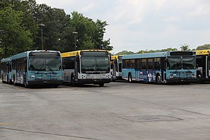 Cobb Community Transit - CCT and CobbLinc buses at a park and ride