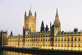 English: Parliament buildings London UK