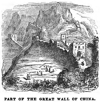 Great Wall of China - Part of the Great Wall of China (April 1853, X, p. 41)
