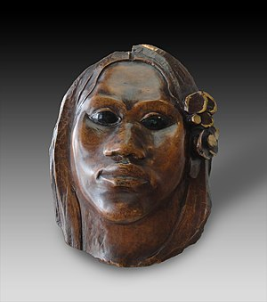 Merahi metua no Tehamana - Image: Paul Gauguin, ca.1891 1893, Tehura (Teha'amana), polychromed pua wood, H. 22.2 cm. Realized during Gauguin's first voyage to Tahiti. Musée d'Orsay, Paris