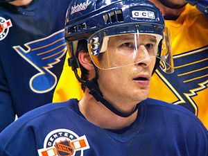 Paul Kariya - Kariya pictured while practicing with the St. Louis Blues