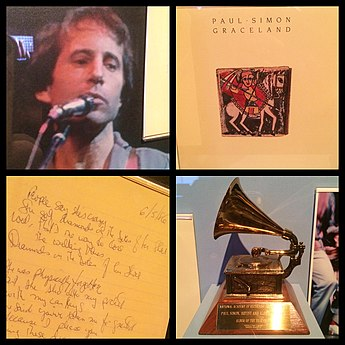 Paul Simon had released a Southern African music-influenced album after falling in love with this music. Paul Simon Artifacts - Rock and Roll Hall of Fame (2014-12-30 00.00.00 by Sam Howzit).jpg