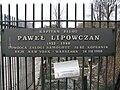 Pawel Lipowczan tablica pamiatkowa.JPG
