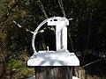 Pedro Meier Skulptur »Futuristische Architektur« (Eisendraht, Holz, weisse Farbe, Objet trouvé) 2014, Skulpturenpark, Atelier Gerhard Meier-Weg, Niederbipp, Schweiz. Foto © Pedro Meier Multimedia Artist.jpg