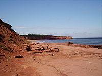 The coast of Prince Edward Island around Cavendish