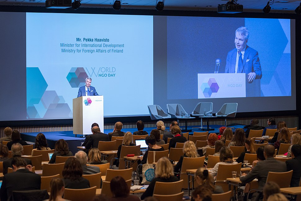 Pekka Haavisto - World NGO Day, Finland