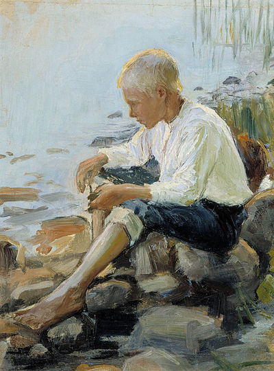 HALONEN Pekka Boy on the shore 1891-1893