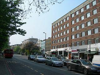 Pentonville Road street in London Borough of Camden, United Kingdom