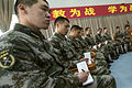 People's Liberation Army (PLA) cadets meet with U.S. Army Gen. Martin E. Dempsey, not shown, the chairman of the Joint Chiefs of Staff, at a PLA Aviation Corps academy near Beijing April 24, 2013 130424-D-VO565-043.jpg