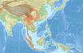 Petaurista elegans distribution map.png