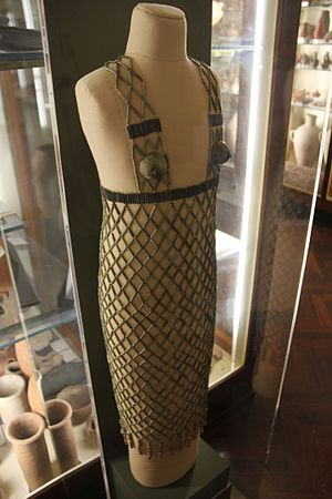 Tjebu - Bead net dress (UC17743) excavated in 1923-24 from the site, Petrie Museum
