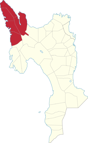 Legislative districts of Leyte - Map of the current 3rd District of Leyte