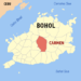 Ph locator bohol carmen.png