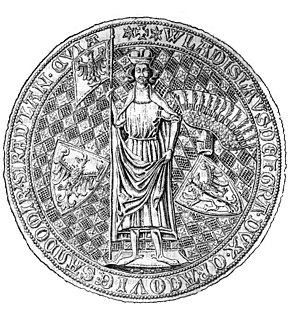 Władysław I the Elbow-high - Royal seal of Władysław Elbow-high