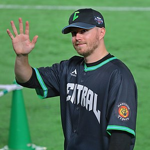 Pierce Johnson Hanshin Tigers at Tokyo Dome.jpg