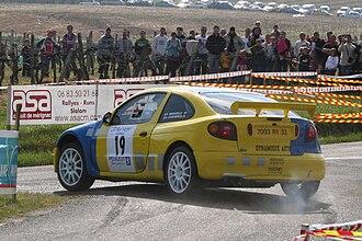 Renault Mégane - A privately entered Maxi Mégane at the 2006 Rallye des Côtes de Garonne, driven by Pierre Mainvielle.