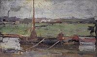 Piet Mondriaan - Polder with moored boat near Amsterdam I - A233 - Piet Mondrian, catalogue raisonné.jpg