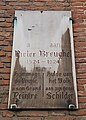 Pieter Breughel memorial plaque, Bruxelles.jpg