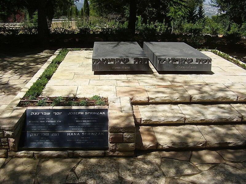 קבר יוסף שפרינצק ואשתו בהר הרצל
