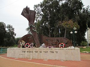2001 Azor attack - Memorial at the place of the attack