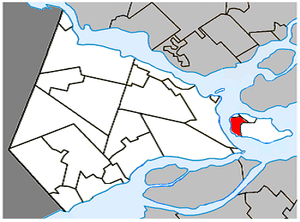 Pincourt, Quebec - Image: Pincourt Quebec location diagram