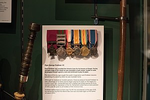 George Findlater - Medals awarded to Findlater on display at the Gordon Highlanders Museum.