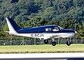 Piper PA-28-140 Cherokee Cruiser (G-BCJN) lands at Bristol Airport, England 15Aug2016 arp.jpg