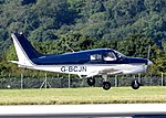 Piper PA-28-140 Cherokee Cruiser (G-BCJN) lands at Bristol Airport, England 15Aug2016 arp.jpg