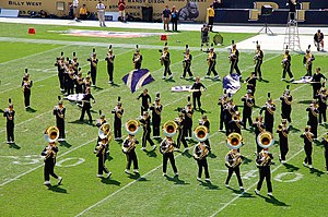 University of Pittsburgh Varsity Marching Band - A portion of the Pitt Band performing at Heinz Field in September 2011.