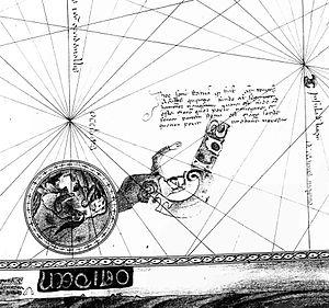 Domenico and Francesco Pizzigano - Inscription of Antillia/Hercules in 1367 map.