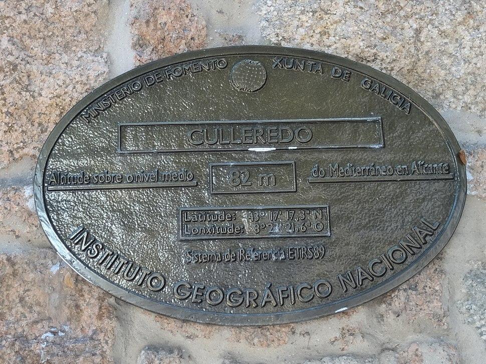 Placa altimétrica Culleredo