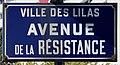 Plaque Avenue Résistance - Les Lilas (FR93) - 2021-04-27 - 1.jpg