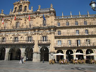 Miguel de Unamuno - Unamuno was often in the terrace of the Café Novelty, founded in 1905, in the Plaza Mayor of Salamanca.
