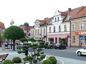 Pleszew - Fragment of the town square