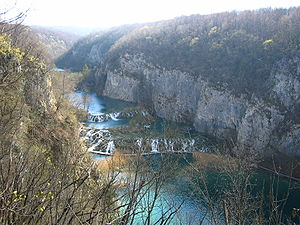 Plitvice Lakes National Park - Lower lakes canyon